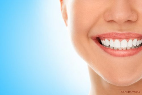 woman smiling with healthy gums