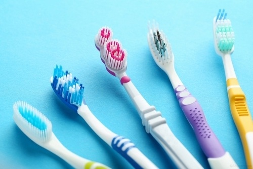 Assortment of toothbrushes